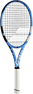 "Babolat Pure Drive Lite Black/Blue/White Tennis Racquet (4 5/8"" Grip) Strung with Blue Color String (Best Lightweight All-Court Racket)"