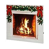 "faux fireplace ideas Mr. Christmas 28"" IlluminArt LED Fireplace"