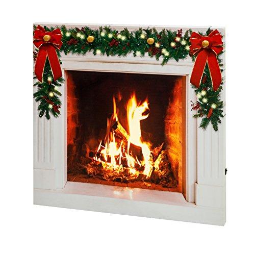 """Mr. Christmas 28"""" IlluminArt LED Fireplace"""