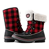 Globalwin Women's Winter Snow Boots (8 D(M) US Women's, Black/Camel)