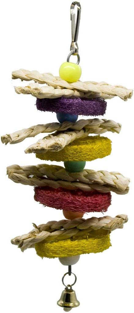 Parrot Supplies Bird Toy Loofah Corn Leaf Twist String Small and Medium Parrot Bite Toy for Parakeet Chew Toy