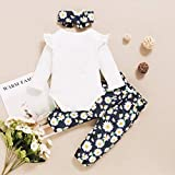 puseky Newborn Baby Girl Floral Outfits Long Sleeve