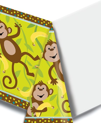 Plastic Banquet Table Cover, Monkeyin' Around ()