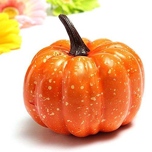 Ioffersuper 2Pcs Plastic Yellow Pumpkin Large Vegetable Creative Party Decorative