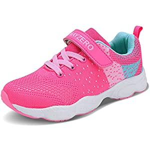 Lingmu Girl's Boys Fashionable Running Shoes Kid Breathable Non-Slip Tennis Shoes Outdoor Sports Shoes Children's…