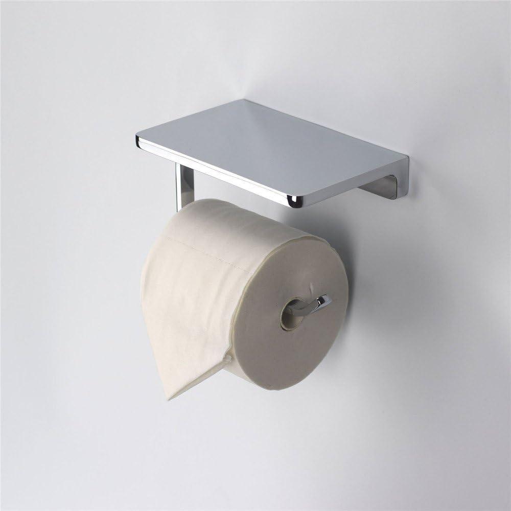 Toilet Roll Tissue Holder Stand Paper Storage Dispenser Wall Mounted Bathroom RK