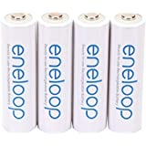 Panasonic BK-3MCCA4BA eneloop AA 2100 Cycle Ni-MH Pre-Charged Rechargeable Batteries, 4 Pack