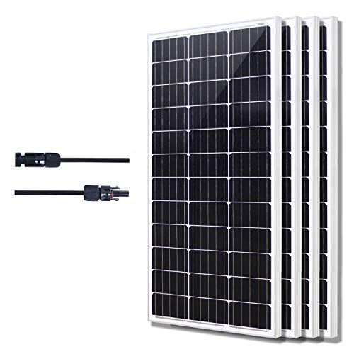 Industrial Solar Panel - KOMAES Solar 400W Monocrystalline Solar Panel 12V Charger with MC4 Connector for Deep Cycle Battery, Perfect for Residential, Industrial, RV, Boat, Camping, Off Grid Installation