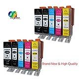 Colour-Store Compatible Canon PGI-250XL/CLI-251XL Ink Cartridges 2 Set (2*Black, 2*Photo Black, 2*Cyan, 2*Magenta,2*Yellow)