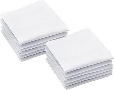 Hysagtek - 12 pañuelos para Hombre, 100% algodón, tamaño Grande ...
