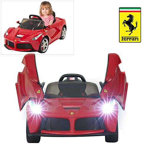 Rastar Ferrari LaFerrari Ride On Car with Remote Control for Kids | 12V Power Battery Official Licensed Kid Car to Drive with 2.4G Radio Parental Control Red