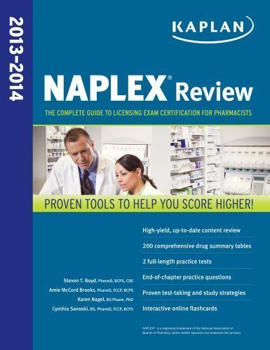 NAPLEX Review 2013-2014 (Kaplan Medical Naplex) by Brooks Pharm.D. BCPS CDE, Amie Published by Kaplan Publishing 1st (first) edition (2012) Paperback