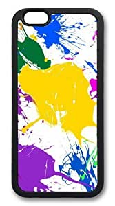 For Ipod Touch 4 Case Cover Paint Splatter Colorful Custom Hard shell Soft Protector For Ipod Touch 4 Case Cover Black