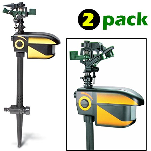 ScareCrow Motion-Activated Animal Deterrent - 2 pack - Sprinkler Spray Electronic Pest Repellent ()