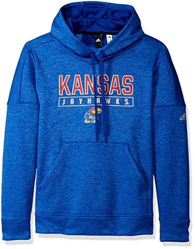 adidas NCAA Kansas Jayhawks Womens Boxed in Team Issued Fleece Pullover Hoodboxed in Team Issued Fleece Pullover Hood, Collegiate Royal, Medium