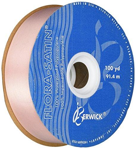 - Berwick 1-7/16-Inch Wide by 100-Yard Spool Flora Satin Craft Ribbon, Peach