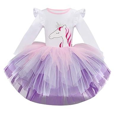 Mitlfuny Primavera Verano Ropa Princesa Vestidos Para Bebé Niña