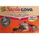 Goya Sazon Con Culantro y Achiote 6.33oz Jumbo Pack-( 2 PACK SUPER SAVER ) Low Sodium Seasoning