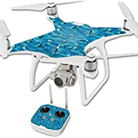 Skin For DJI Phantom 4 Quadcopter Drone – Dolphin Gang | MightySkins Protective, Durable, and Unique Vinyl Decal wrap cover | Easy To Apply, Remove, and Change Styles | Made in the USA