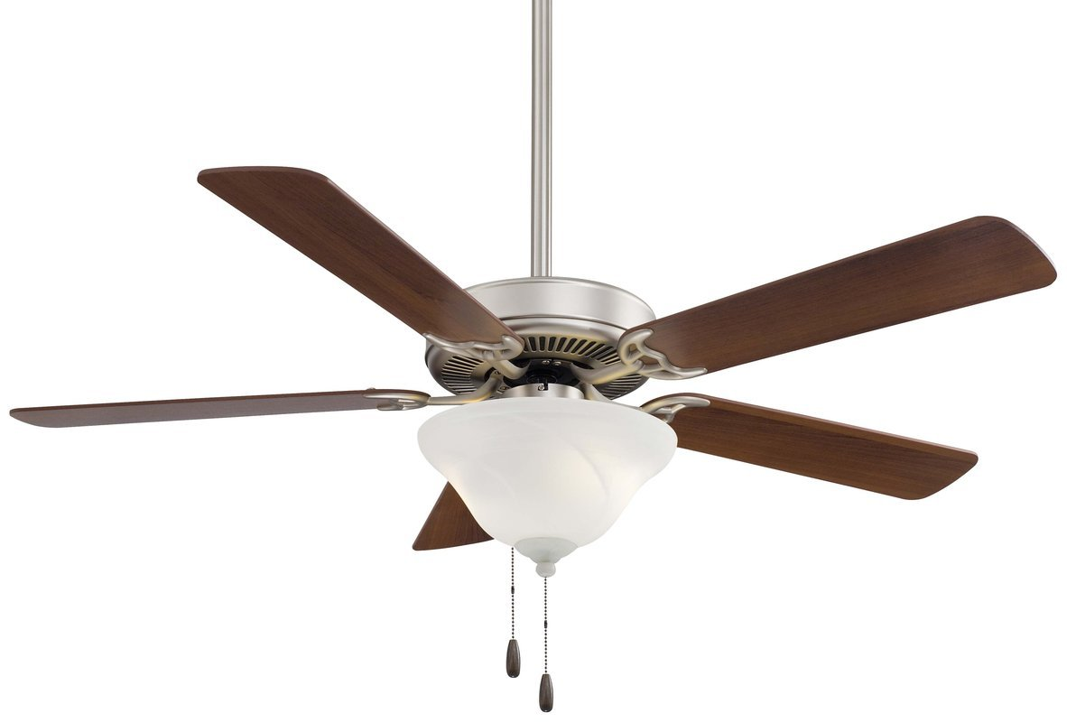 Minka-Aire F548-BS/DW, Contractor Uni-Pack, 52'' Ceiling Fan, Brushed Steel