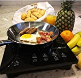 Evergreen Home Portable Induction Cooktop: 1800W Electric Countertop Burner