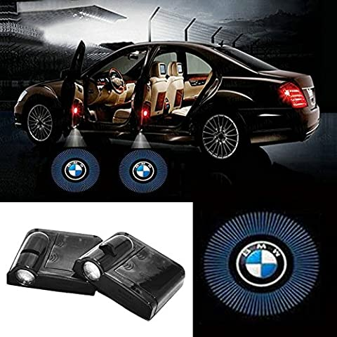 Fangfei 2x Wireless Laser Projector Car Door Step Courtesy Welcome Lights for BMW Puddle Ghost Shadow LED Lights - Accept Custom Logo (For (Bmw Shadow Door Light)