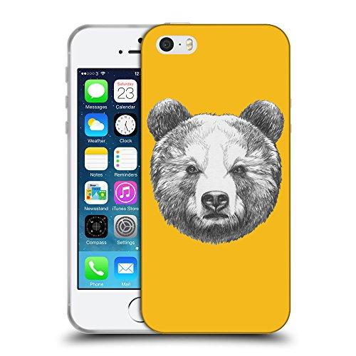 GoGoMobile Coque de Protection TPU Silicone Case pour // Q05350602 Ours portrait ambre // Apple iPhone 5 5S 5G SE