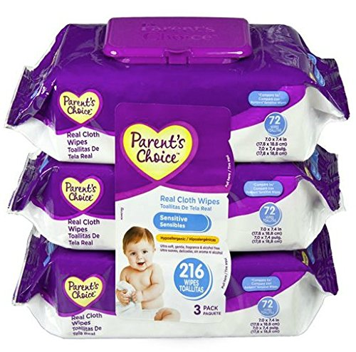 Parent's Choice Baby Wipes Value Pack Sensitive 216 Count