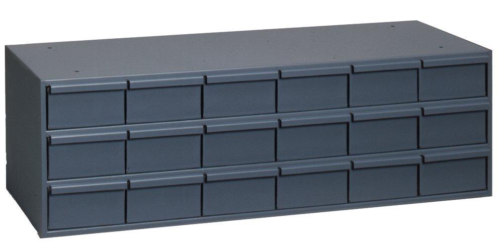 Durham 005-95 Gray Cold Rolled Steel Storage Cabinet, 33-3/4'' Width x 10-7/8'' Height x 11-5/8'' Depth, 18 Drawer