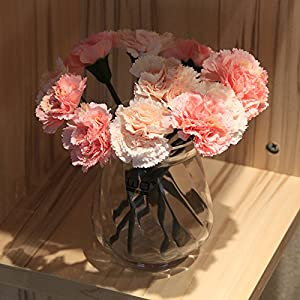 Emulation flower artificial flowers carnations floral kit ceramic glass vases boutonniere home decor Silk flower 22×19cm 90