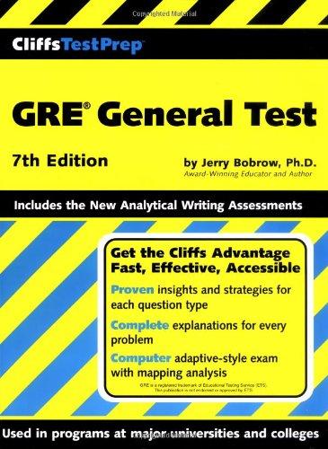CliffsTestPrep GRE General Test