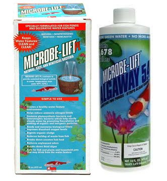 Microbe Lift PL 32oz + Microbe Lift Algaway 16oz Pond Water Treatment Kit Algaway 5.4 Control