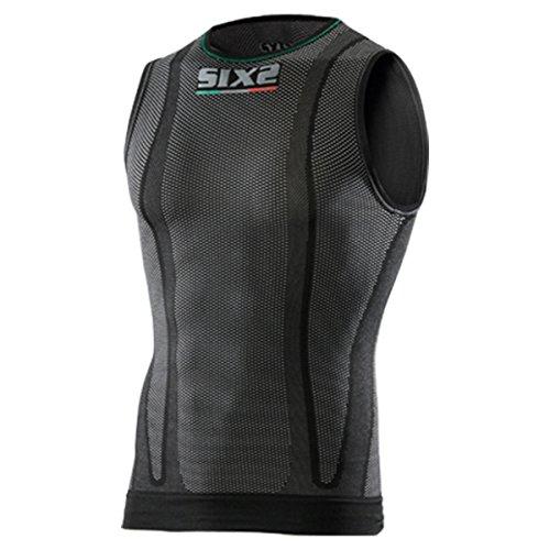Sixs SML2 Men's SuperLight Undergarment Sleeveless Shirts - Black Carbon/Small ()