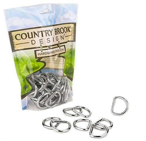 Country Brook Design 50 American Made 1 Inch Welded D-Rings