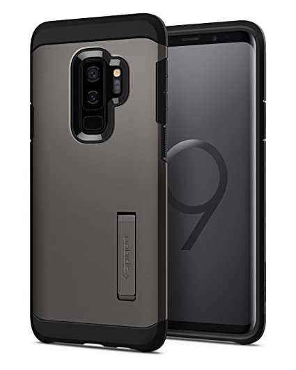 promo code 3059a 8badd Spigen Tough Armor Designed for Samsung Galaxy S9 Plus Case (2018) -  Gunmetal