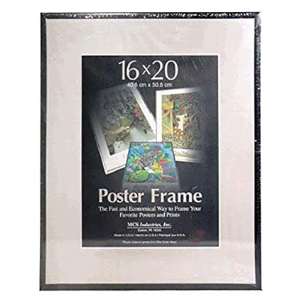 amazon com mcs acrylic corrugated back poster frame for a 16x20