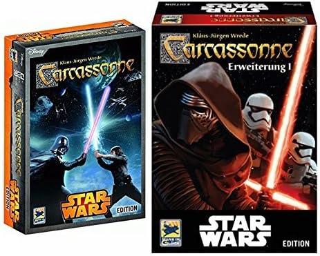 Carcassonne Star Wars Edición + 1. Extensión - Lote: Amazon.es: Juguetes y juegos