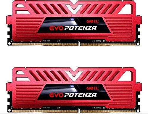 Evo Desktop Memory (GeIL 16GB (2 x 8GB) EVO POTENZA DDR4 PC4-24000 3000MHz 288-Pin Desktop Memory Model GPR416GB3000C16ADC)