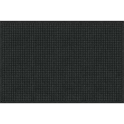 Eco Mat Squares Entrance Door Mat, 4 Feet By 6 Feet, Onyx