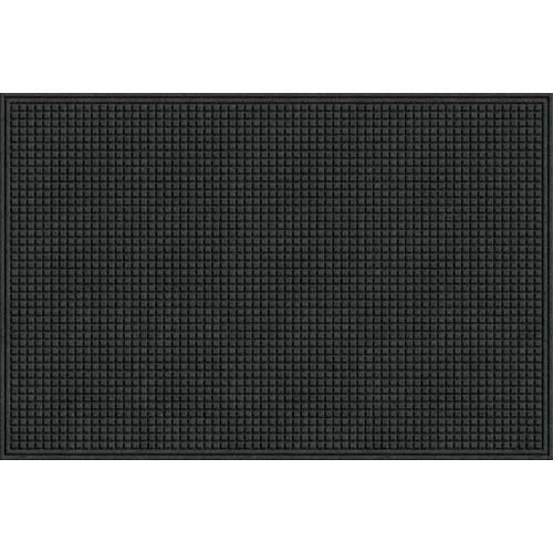 Apache Mills Eco Mat Squares Entrance Door Mat, 4-feet by 6-Feet, Onyx