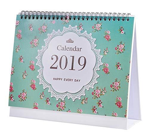 2018-2019 Desk Calendar Flip Monthly Calendar (Green)