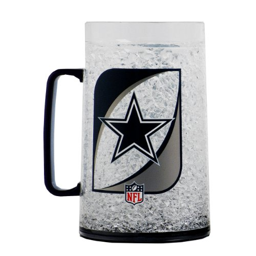 Crystal Dallas Cowboys Football (NFL Dallas Cowboys 36-Ounce Crystal Freezer Monster Mug)