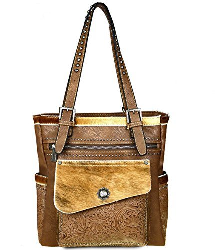 trinity-ranch-tooled-hair-on-leather-concealed-carry-multi-pocket-tote-khaki