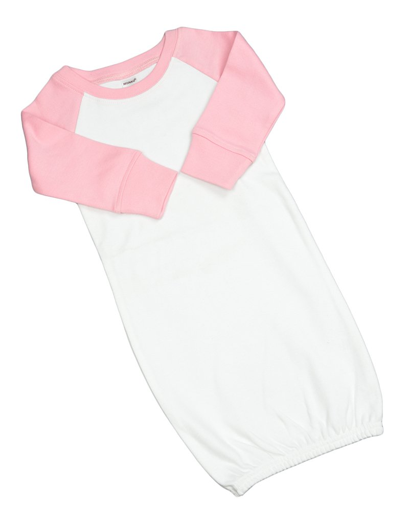 Monag Long Sleeve Raglan Baby Gown