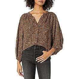 Amazon Brand – Goodthreads Women's Fluid Twill Volume-Sleeve Balloon Poet Shirt