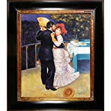 overstockArt Renoir Dance in the Country with Opulent Frame Oil Painting, Dark Stained Wood with Gold Trim