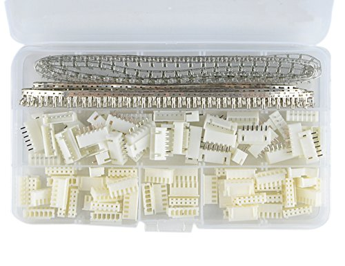 XLX 700Pcs 2.54mm JST-XHP 6 Pin housing (and Pin Pedestal Housing) Kit and Male / Female Pin Header Terminals Connector Adapter Plug Set