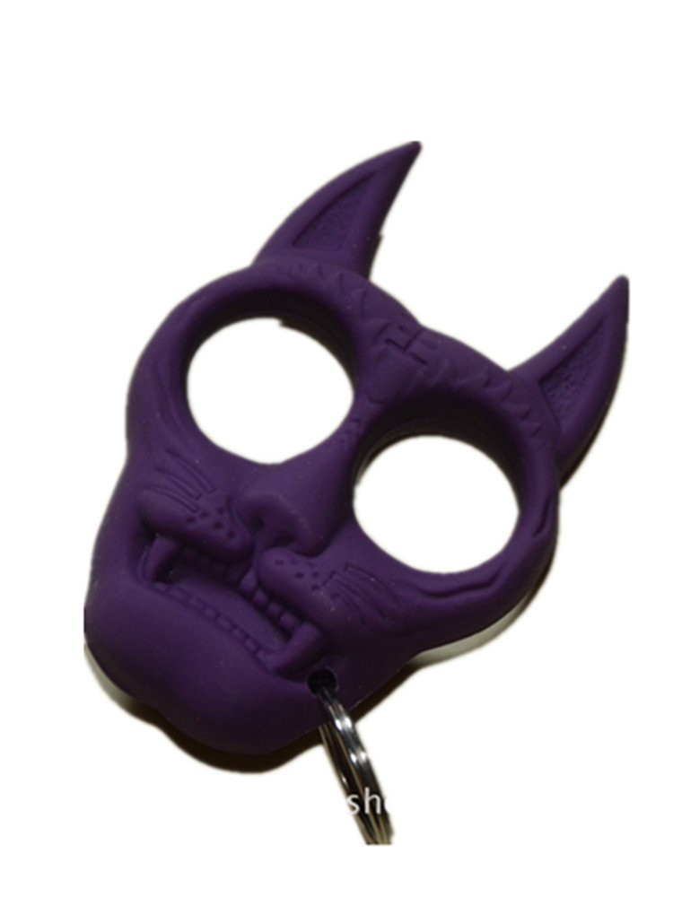 Black Cat Defense Keychain