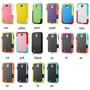 JAJAY- Newest TPU+PC Soft Back Case for Samsung Galaxy S4 I9500 (Assorted Colors) , 4