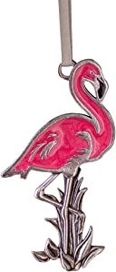 DANFORTH - Flamingo Ornament - Pewter - Handpainted - Made in The USA
